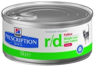 HILL'S PRESCRIPTION DIET r/d Weight Reduction Chicken Flavor Canned Cat Food, 5.5 oz, 24-Pack Wet Food