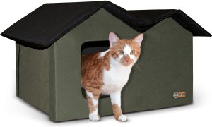 K & H Pet Products Multi-Cat Outdoor Heated Double House