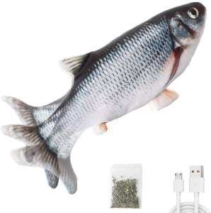 Moving Cat Kicker Fish Toy- let your toy do a fun exercise: