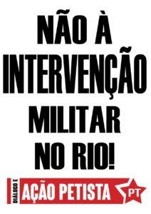 Pirulito DAP Não a intervenção militar no Rio