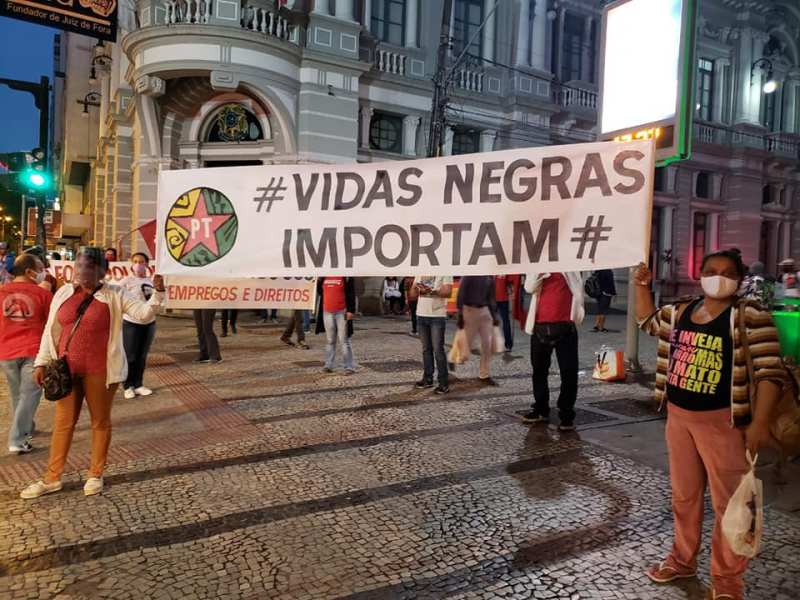 faixa vidas negras importam - Juiz de Fora / MG