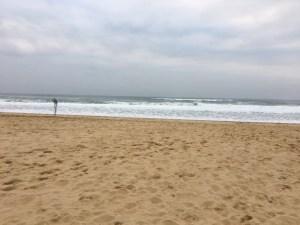 L'océan, plage devant