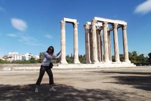 Voyage, ruines à Athènes