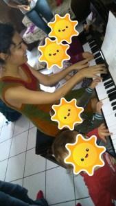 chanter avec bébé, piano