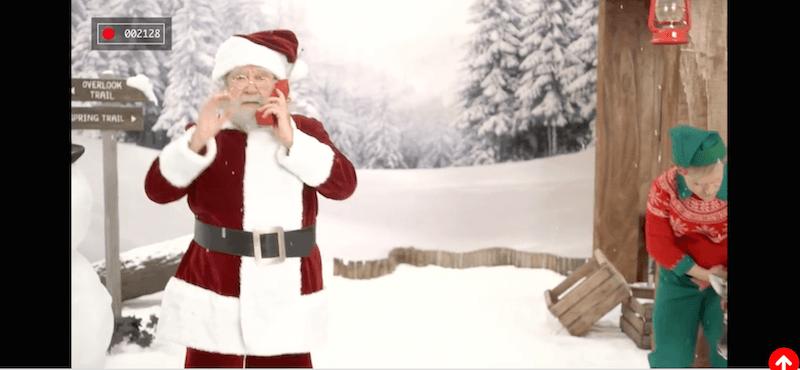 Llamada de Papa Noel Coca Cola