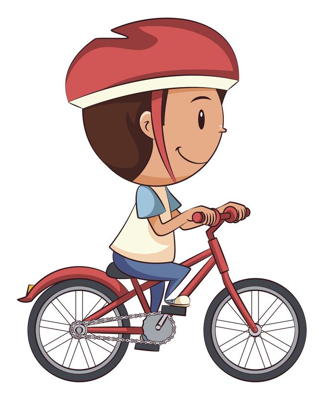Tom sur son vélo