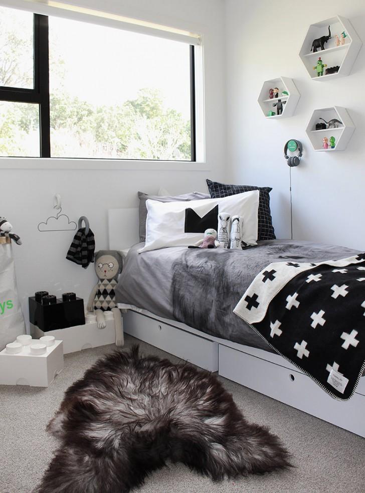 10 Great Kid's Bedrooms In Grey Tones - Petit & Small on Teenage Grey Small Bedroom Ideas  id=26184