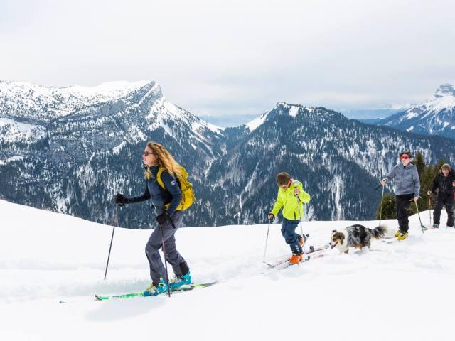 Faire du ski de randonnée avec des enfants