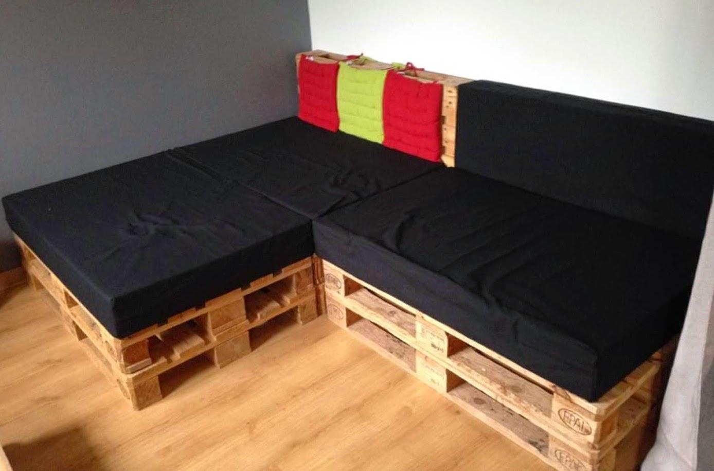 coussin pour canapé en palette
