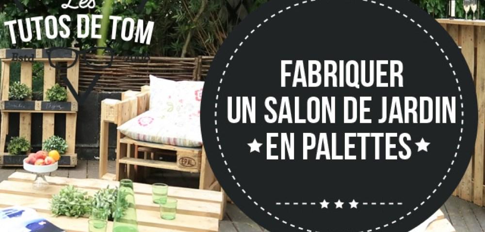 Salon De Jardin Palette Tuto - Canapé Palettes.