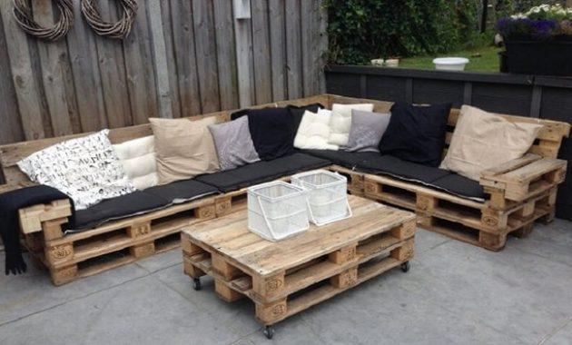 salon de jardin palettes en bois canap233 palettes