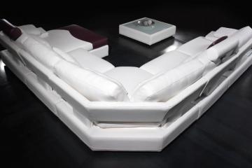 canapé d'angle cuir center
