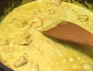 poulet curry lait de coco