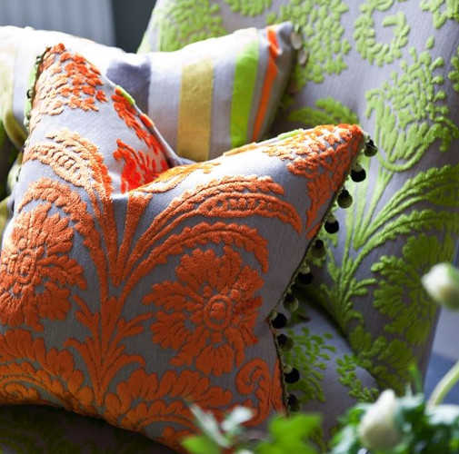 coussins colorés design