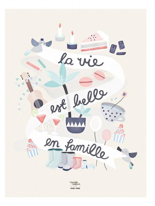 affiche-la-vie-est-belle-en-famille-michelle-carlslund-emoi-emoi_1_