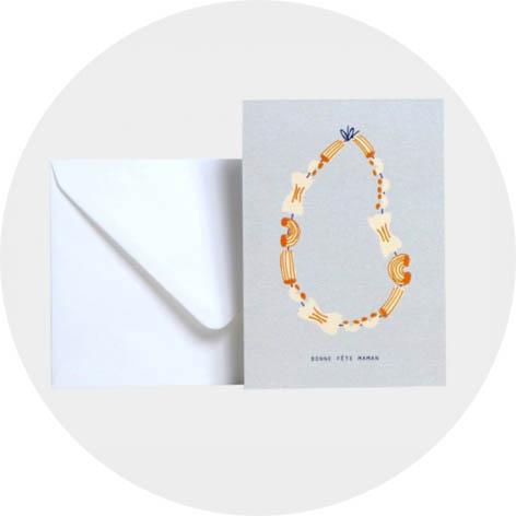 season-paper-collier-de-nouille-carte-bonne-fete-maman-cadeau