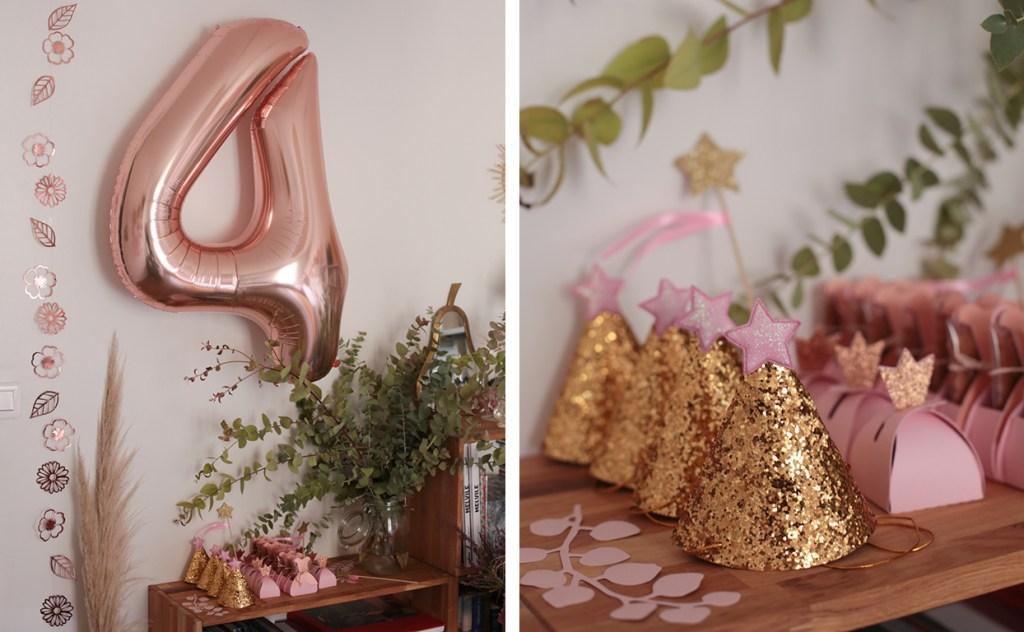 anniversaire-mila-4-ans-rose-caramelle-decoration-princesse-rose-gold-meri-meri-gift-favor