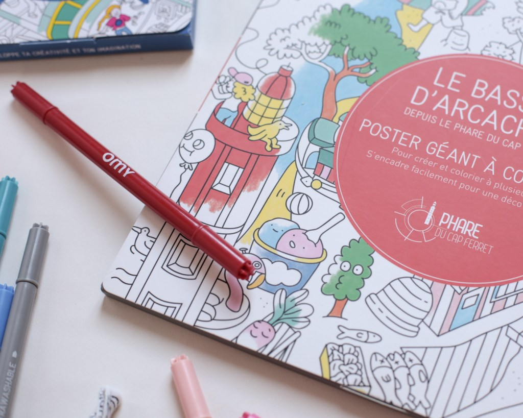 coloriage-omy-bassin-arcachon-poster-geant-a-colorier-phare-cap-ferret-activites-enfant