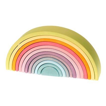 tunnel-pastel-en-bois-12-pieces-grimms