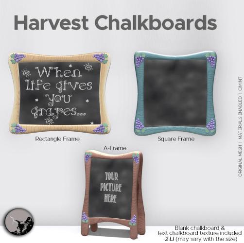 Harvest Chalkboards @ TCF Stories – September 18 graphic