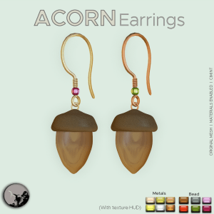 Accorn earrings poster
