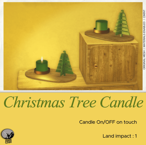 Christmas Tree Candle : New Release ! graphic