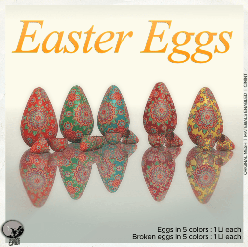 Easter Eggs : New release @ Petit Chat graphic