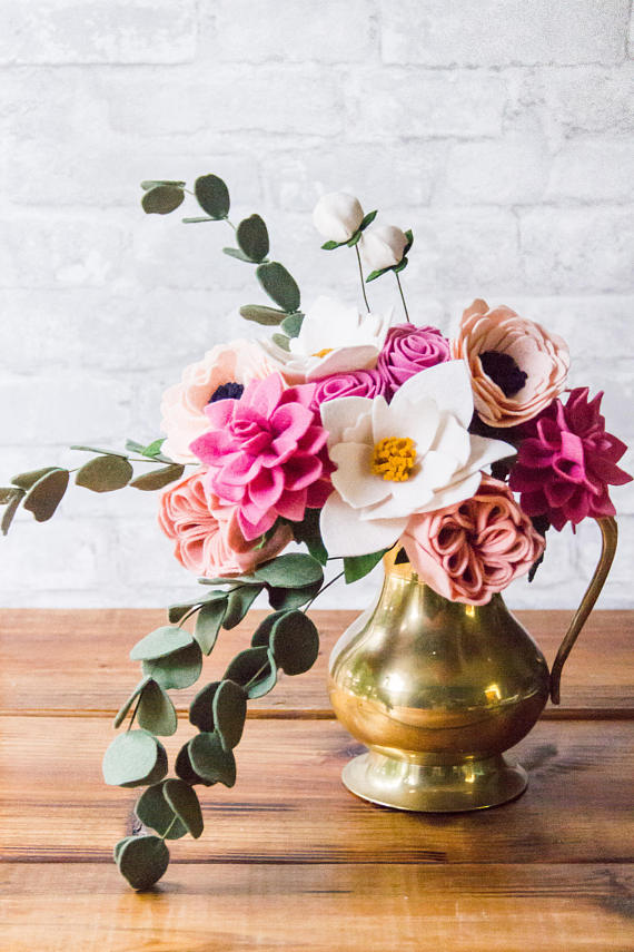 Felt Flowers by Sloane Street Studio   Mother's Day Gift Guide
