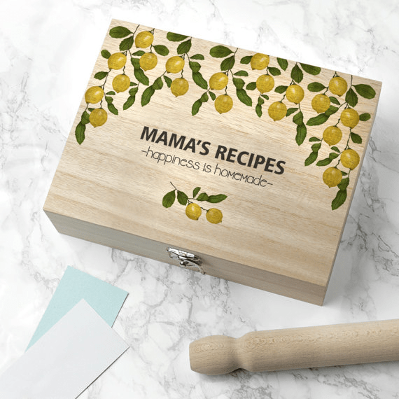 Lemon Grove Recipe Box by Serendipity Vita   Mother's Day Gift Guide