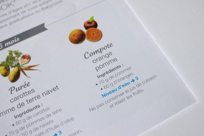 Recette compote pomme orange pour le Babycook