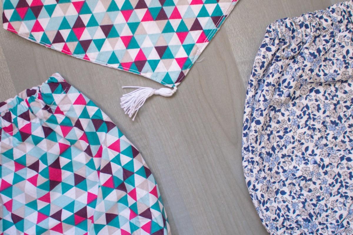 Ensemble bloomer-bandana graine de sabah