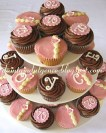 70th Birthday Pink Cupcakes