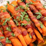 Bacon wrapped carrots
