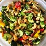 Garlic Basil Parmesan Pasta Salad