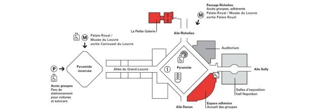 Plan du musée avec emplacement de la Petite Galerie