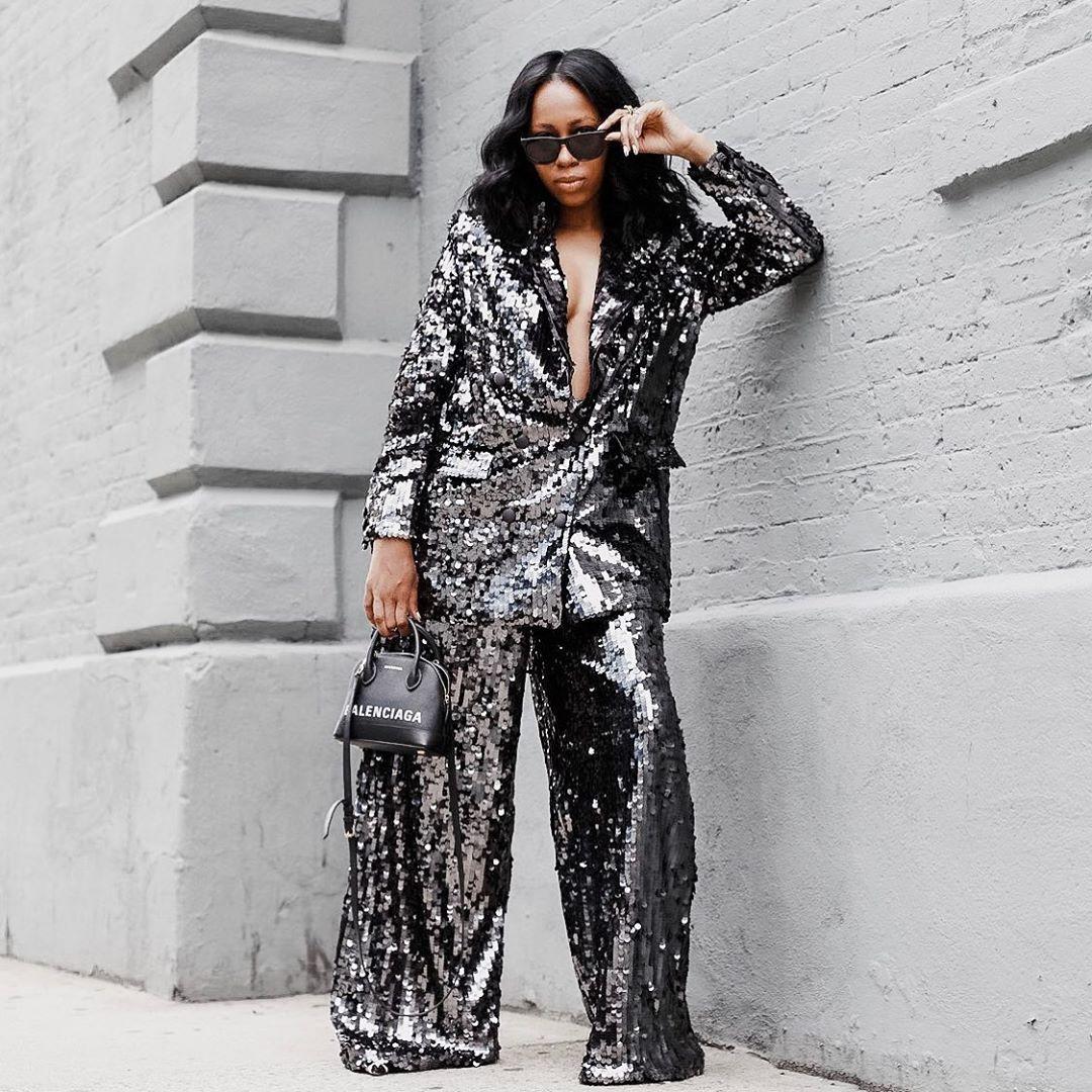 Women in Shiny Suit