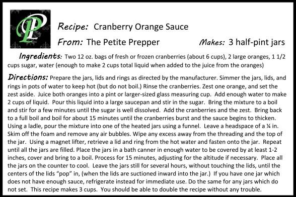 Cranberry Orange Sauce Recipe