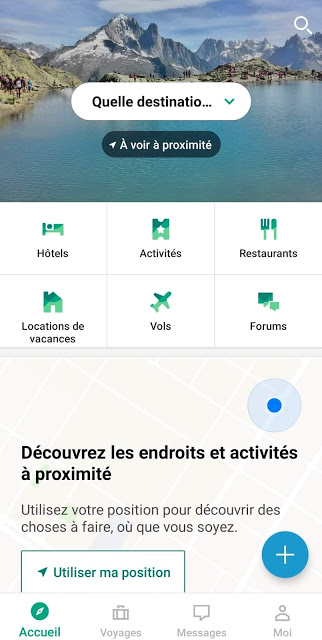 capture écran application tripadvisor