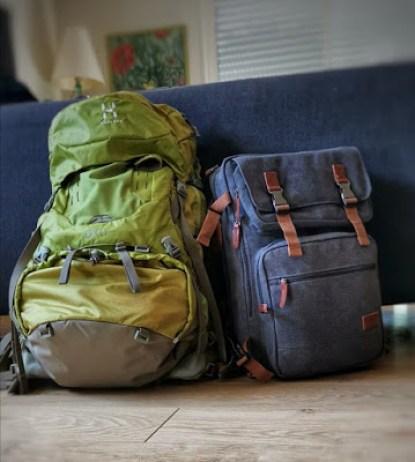 deux sac à dos pour voyager léger