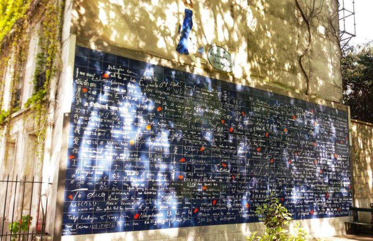 mur des je t'aime car paris classé dans destinations romantiques