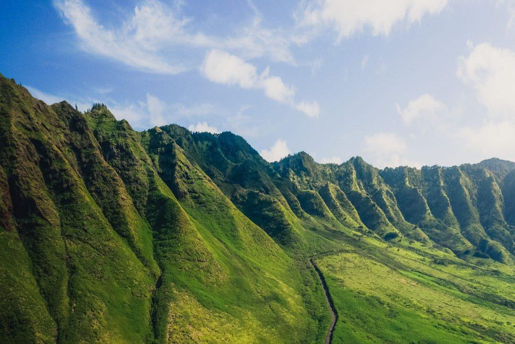 Montagne verdoyante d'Hawaï