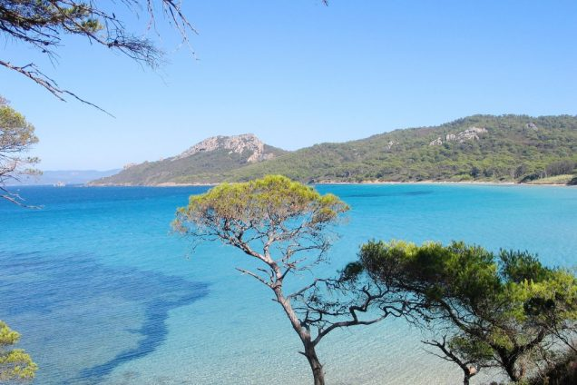 plage de notre dame porquerolles eau turquoise