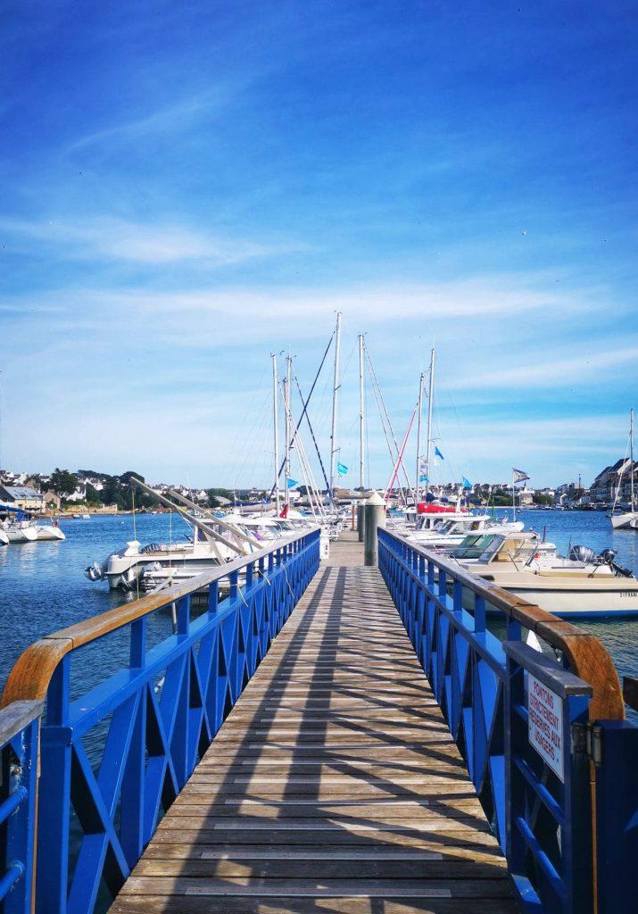 ponton bleu port audierne