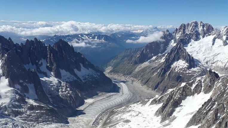 mer de glace à découvrir lors d'un week-end à Chamonix