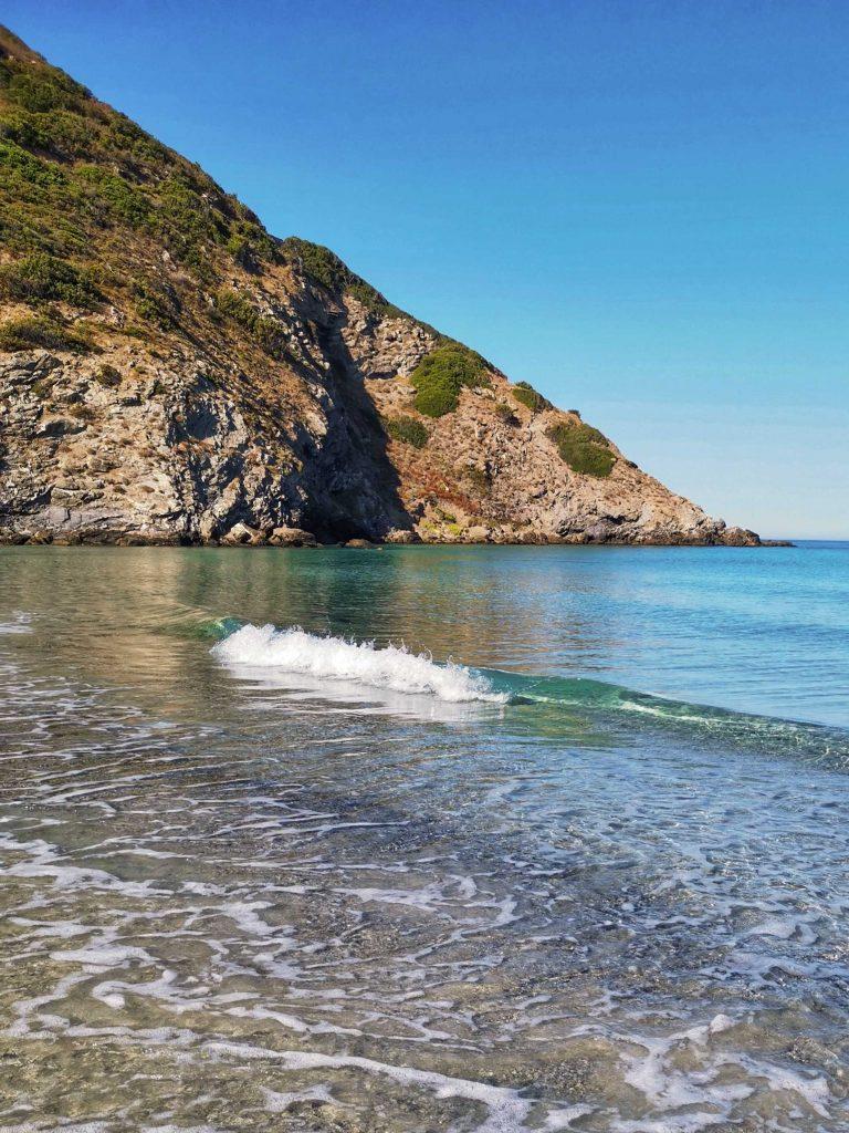 plage ostriconi au nord-ouest de la Corse