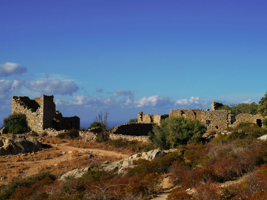 village abandonné d'occi dans le nord-ouest de la Corse