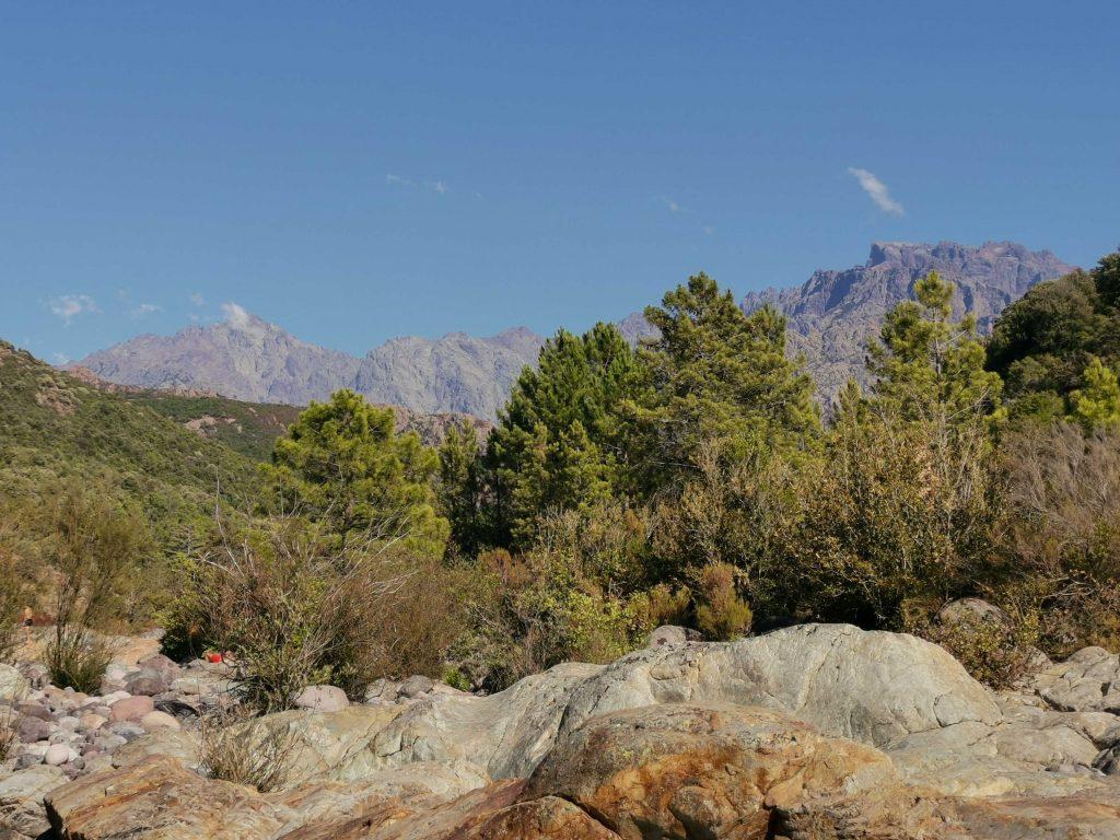 montagne vallée du fango dans le nord-ouest de la Corse