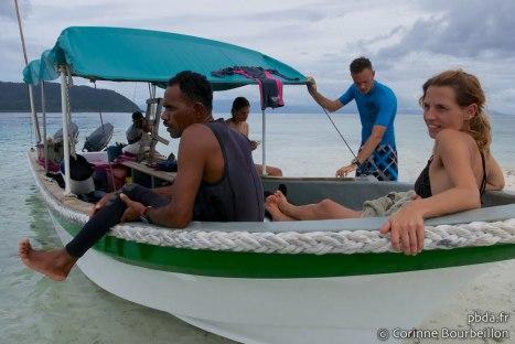 Papua Diving team. Raja Ampat. Papouasie, Indonésie, juillet 2012.