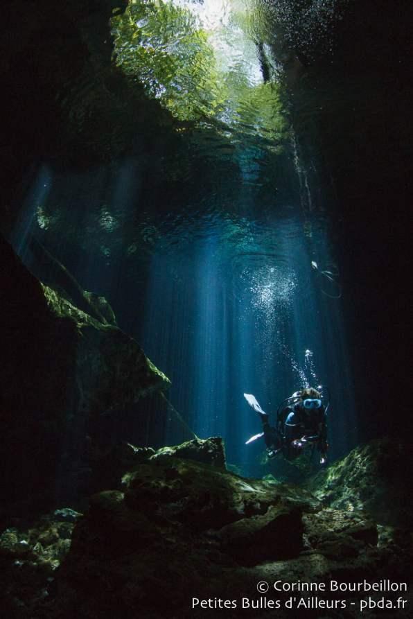 Cenote Tajma Ha. Mexique, juillet 2014.