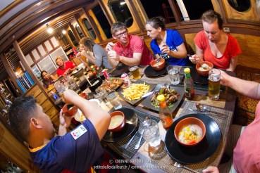 Les repas à bord du Duyung Baru sont toujours très copieux. (Komodo, Indonésie, juillet 2016)